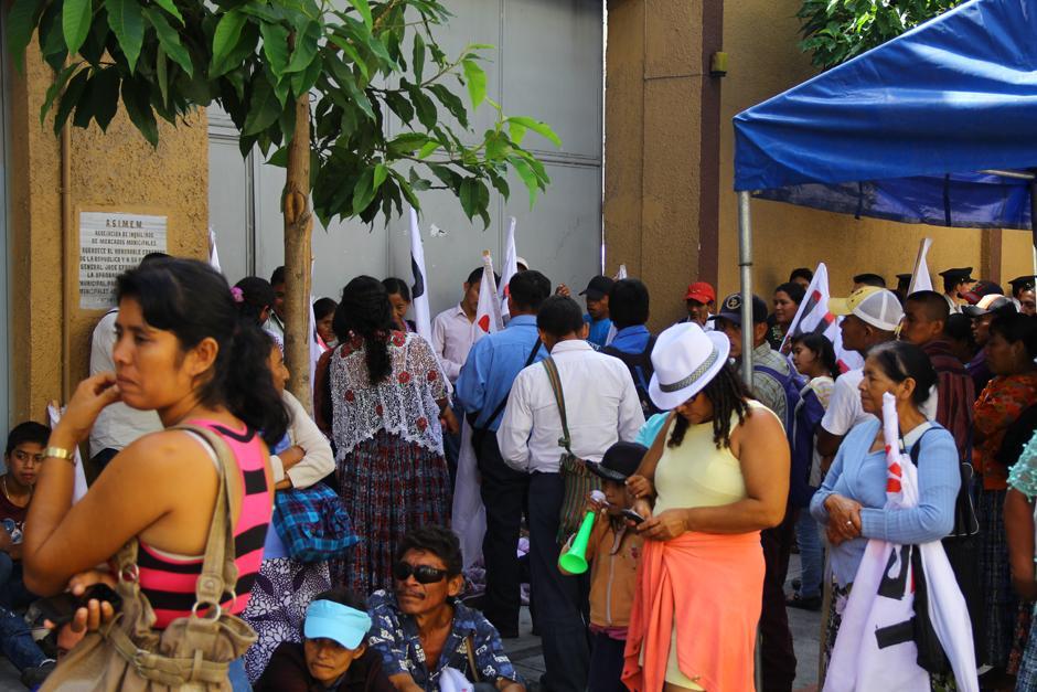 Integrantes de la UASP movilizaron a menores para participar en las protestas. (Foto: Jesús Alfonso/Soy502)