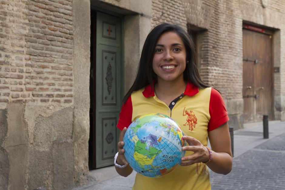 Ana Lucía Martínez se convirtió en la primera futbolista guatemalteca en jugar en la Súper Liga Femenina de España, actualmente está con el Rayo Vallecano. (Foto: Laura Aragón)
