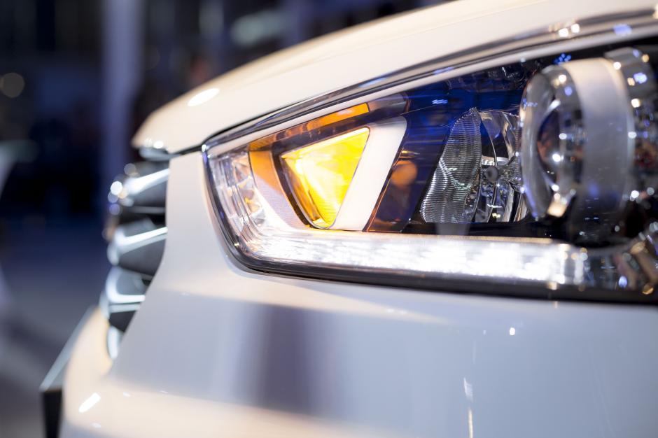 La Hyundai Creta está equipada con faros LED de luces direccionales integradas.(Foto: George Rojas / Soy502)