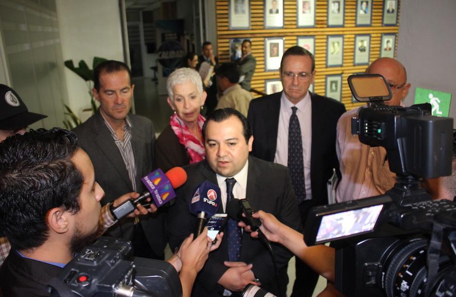 Los dirigentes de la Fedefutbol dieron declaraciones al final de la maratónica audiencia. (Foto: Luis Barrios/Soy502)
