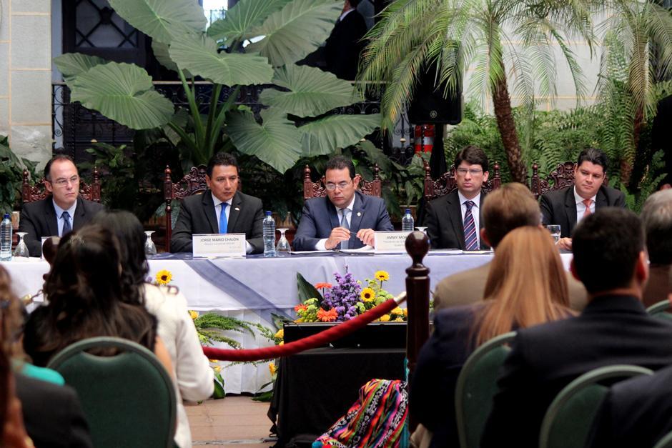 En la presentación estuvo representado el Mineco, Inguat, Camtur y Agexport. (Foto: Alejandro Balán/Soy502)