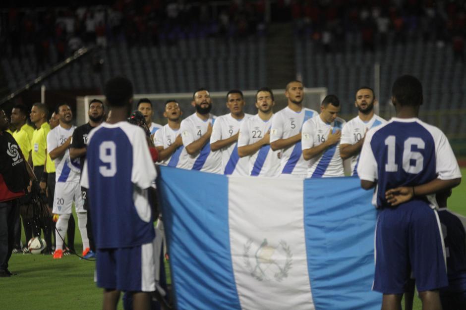 Así alineó la Selección de Guatemala. (Foto: Luis Barrios/Soy502)