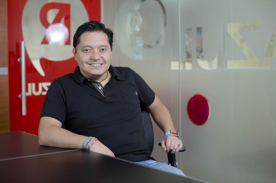"""Jorge Pérez """"El Brother"""", director creativo de Red Azul. (Foto: George Rojas/ Soy502)"""