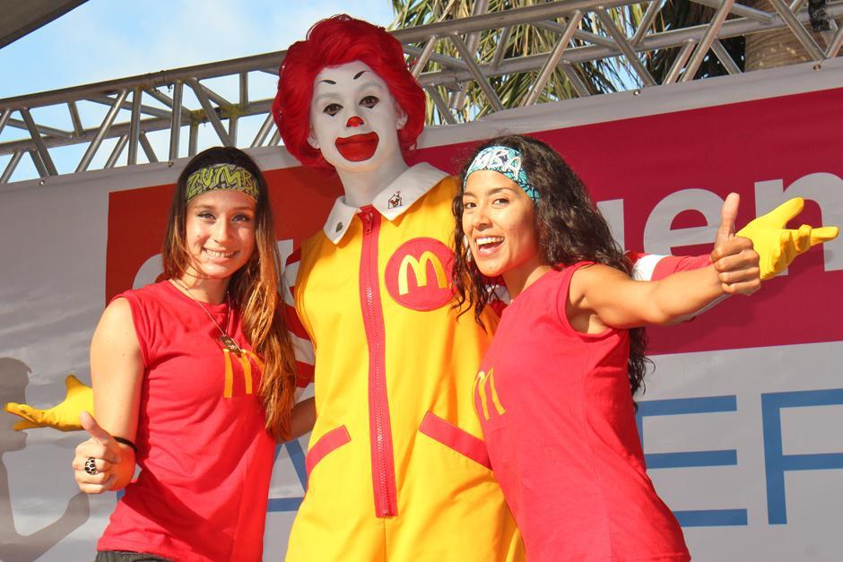 Ronald McDonald estuvo presente en el evento. (Foto: José Dávila/Soy502)