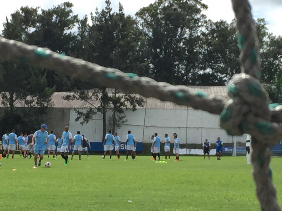 Los guatemaltecos realizaron por la mañana de este jueves su último entrenamiento en el Proyecto Goal, previo a enfrentar a Trinidad y Tobago. (Foto: Nuestro Diario)