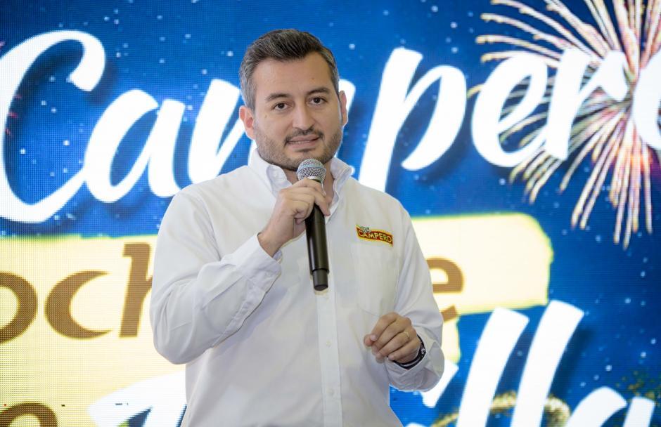 Julio Escobar, gerente de marca de Pollo Campero, comentó que habrá un show simultáneo en el Centro Comercial Metronorte. (Foto: George Rojas /Soy502)