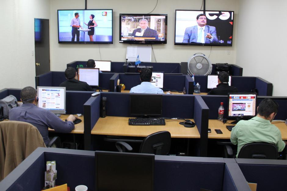 Estas son las oficinas del Departamento de Monitoreo al cuál se acusa de incidir en las redes sociales a favor del gobierno. (Foto: Luis Barrios/Soy502)