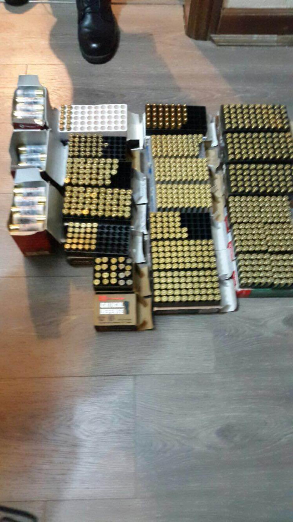Municiones de diferentes calibres también se decomisó por parte de la PNC y MP. (Foto: MP)