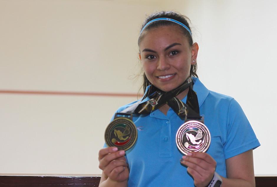 Ana Gabriela Martínez es siete veces campeona mundial en la categoría junior de raquetbol. (Foto: Luis Barrios/Soy502)