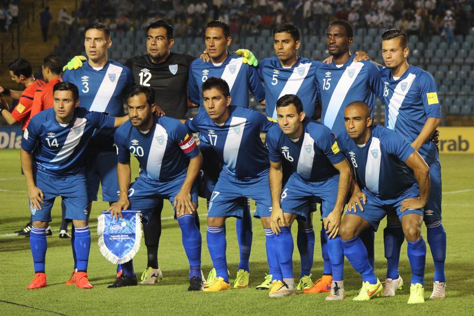Así alineó Guatemala ante Antigua y Barbuda, en el Mateo Flores. (Foto: José Dávila/Soy502)