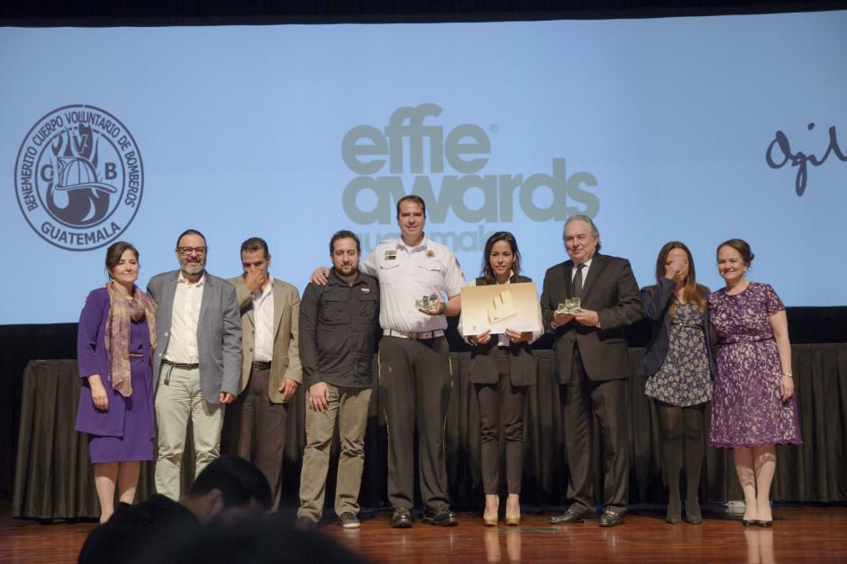 En la categoría Presupuesto Reducido, Bomberos Voluntarios y Ogilvy Guatemala recibieron el Effie Oro. (Foto: George Rojas/Soy502)