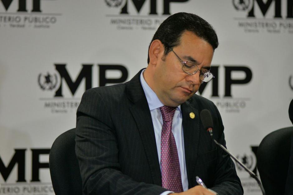 El presidente destacó la labor del MP y CICIG. (Foto: Wilder López/Soy502)