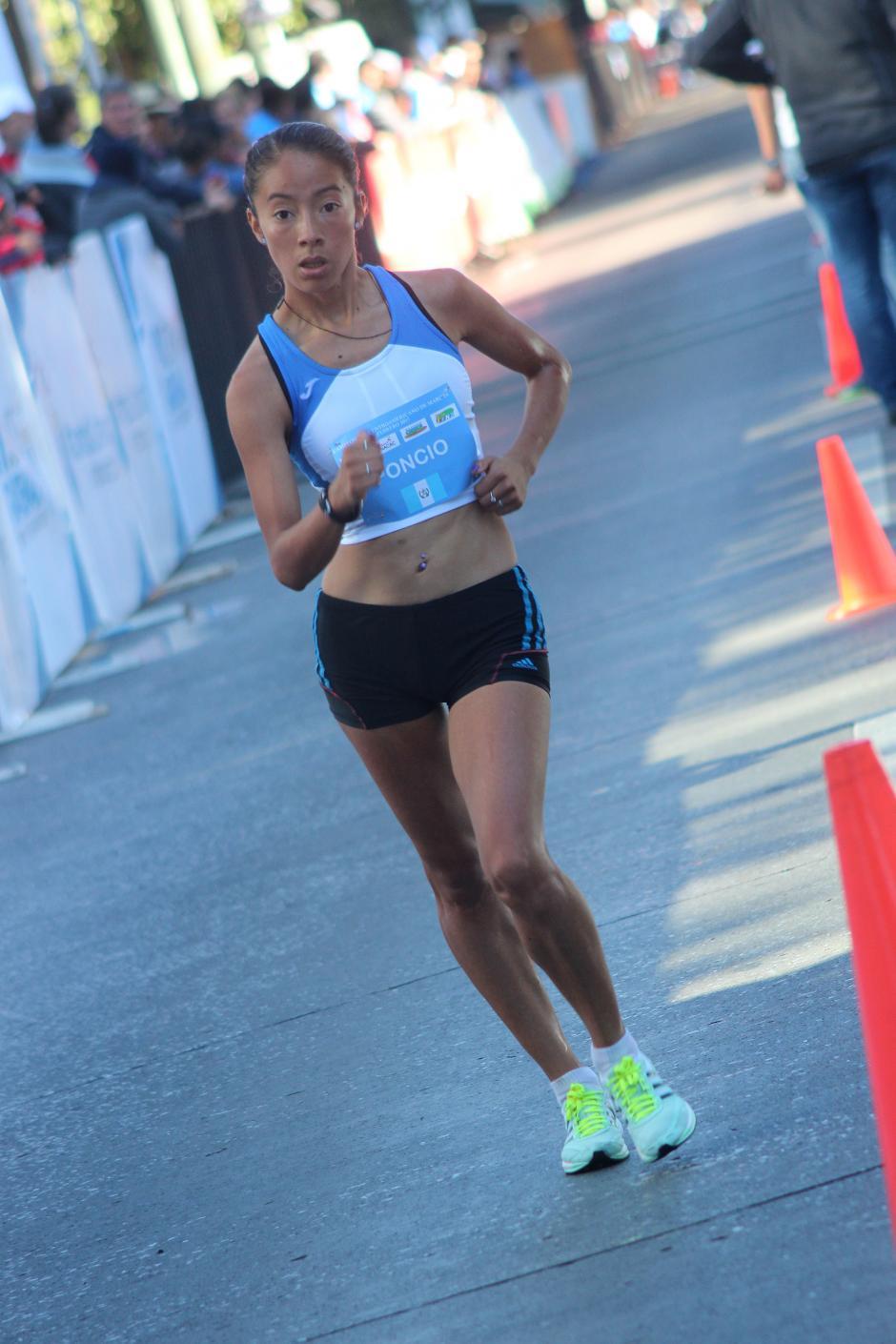 Maritza Poncio se metió al podio, en el segundo puesto. (Foto: José Dávila/Soy502)