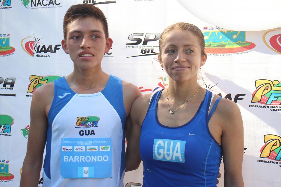 José Barrondo y Mayra Herrera, los dos ganadores de la jornada dominical. (Foto: José Dávila/Soy502)