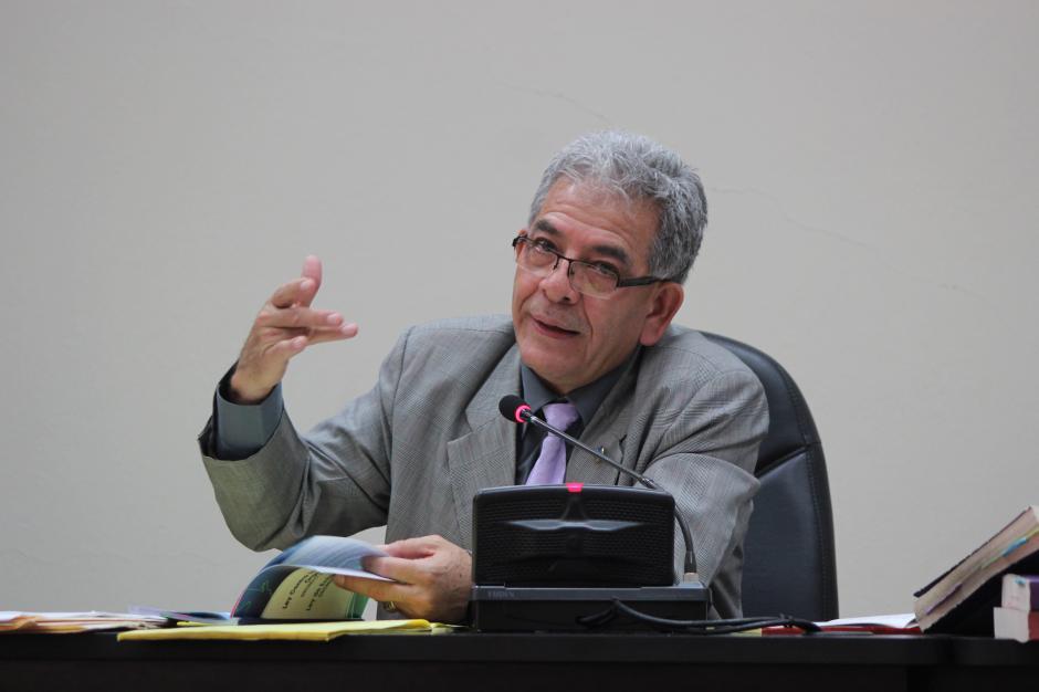 El juez Miguel Ángel Gálvez expone sobre su decisión en el caso La Línea. (Foto: Jesús Alfonso/Soy502)