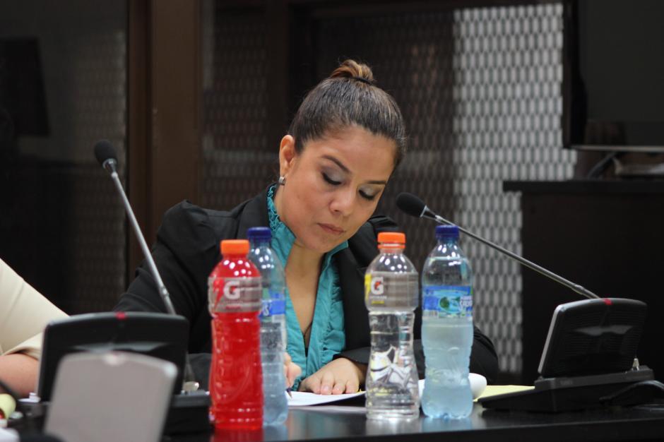 Claudia Méndez duró más de seis horas en su primera declaración la semana pasada. (Foto: Jesús Alfonso/Soy502)