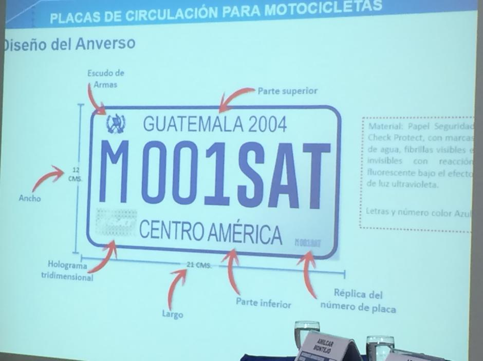 La placa será entregada a distribuidores e importadores de motocicletas. (Foto: Roberto Caubilla/Soy502)