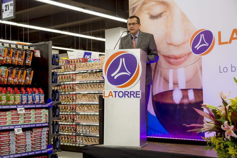 Freddy Gereda, director general de La Torre, habla sobre el crecimiento y expansión de la cadena de supermercados en el país.(Foto: George Rojas / Soy502)