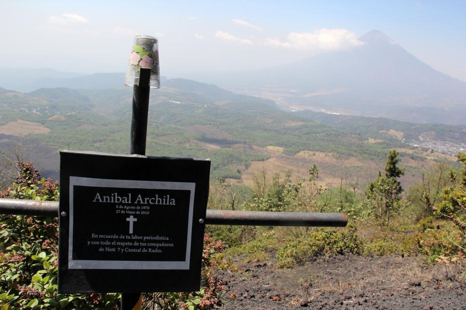 Este año se cumplen 4 de la muerte del periodista Aníbal Archila, por una explosión del volcán. (Foto: Esteban Biba/Soy502)