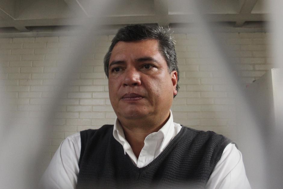 Gustavo Martínez se encuentra en la carceleta de Torre de Tribunales a la espera de la primera audiencia a realizarse el lunes. (Foto: Alejandro Balán/Soy502)