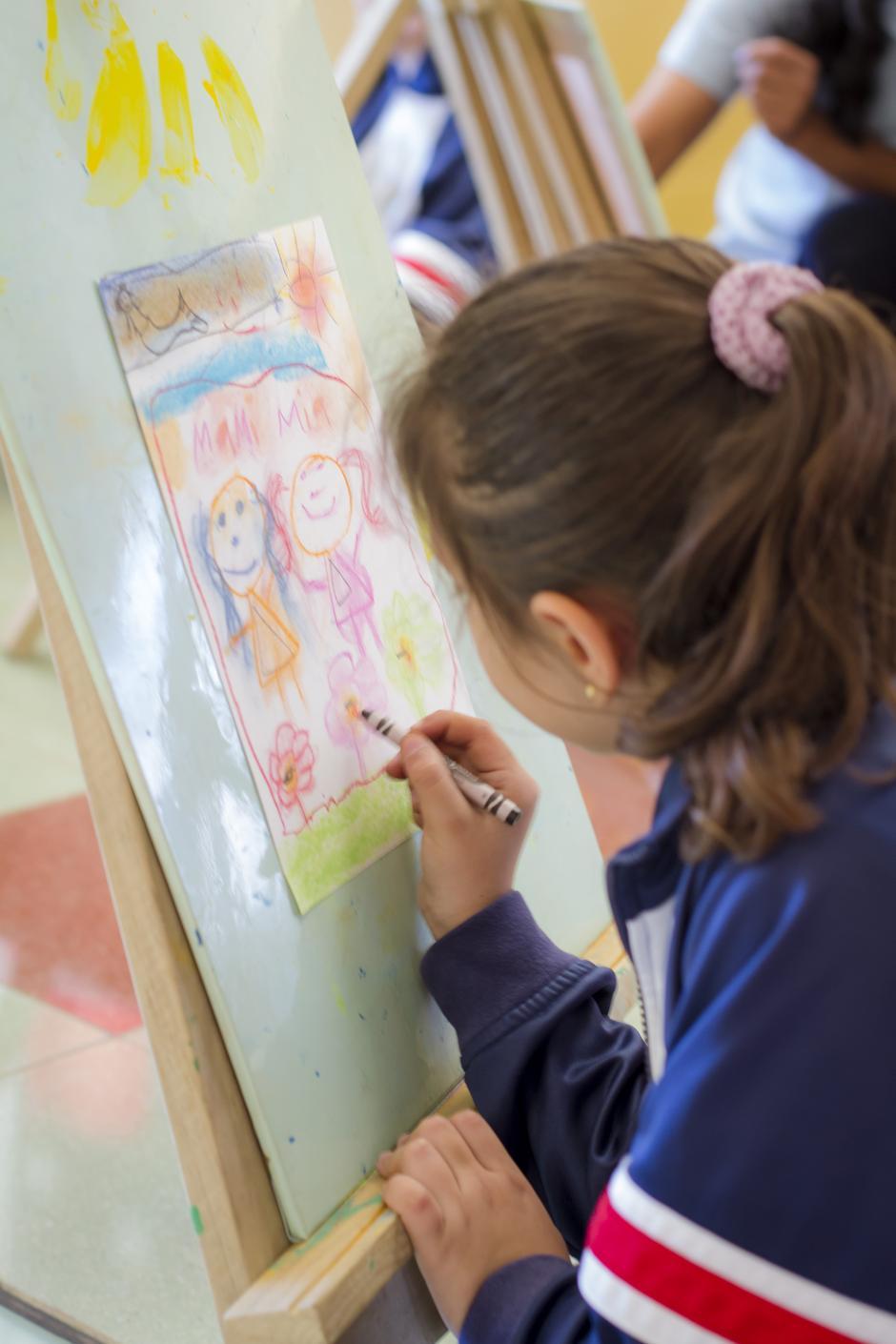 El desarrollo artístico también es prioridad en el colegio. (Foto: Magui Medina/Soy502)