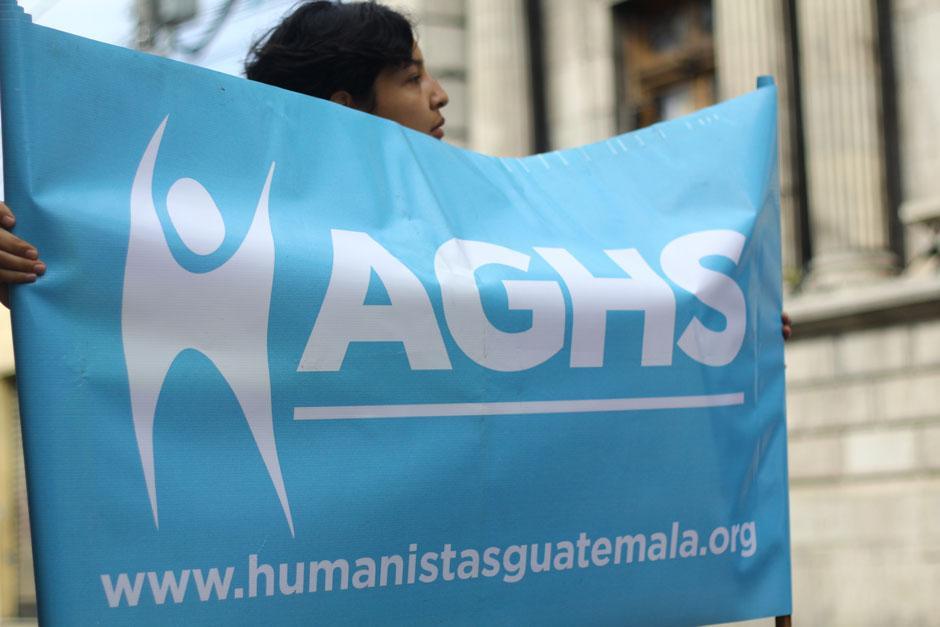 Los integrantes de la Asociación Guatemalteca de Humanistas Seculares señalaron que la iniciativa es ilegal. (Foto: Alexis Batres/Soy502)