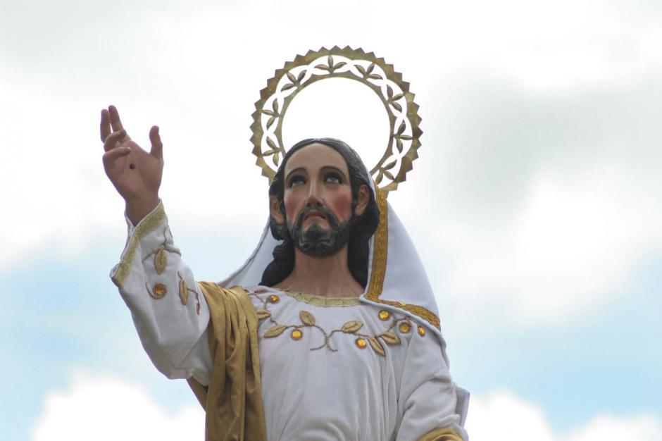 La imagen salió del Templo del Calvario. (Foto: Raúl Illescas/Soy502)