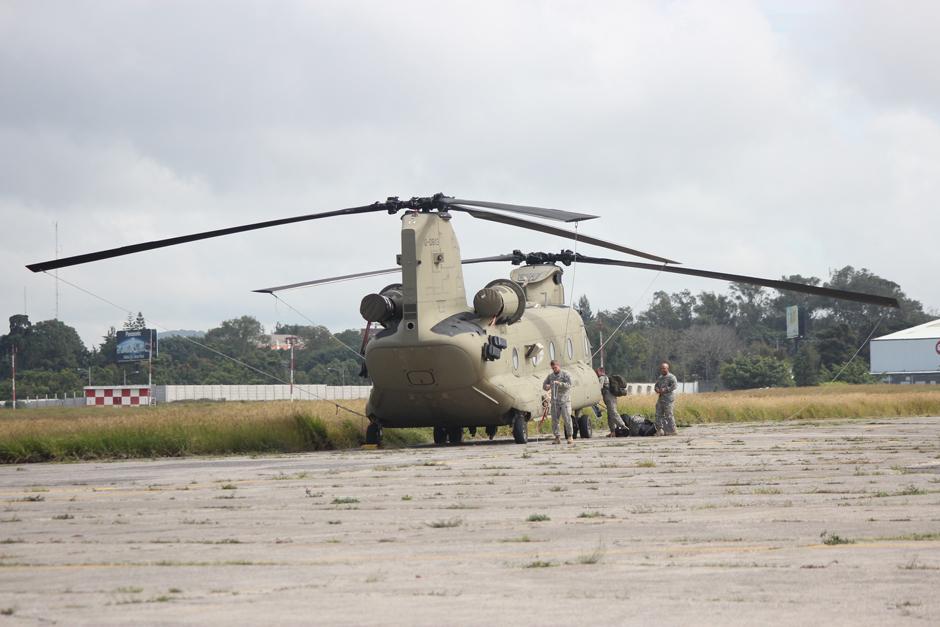Elementos del Ejército de Estados Unidos acompañaron el despliegue de seguridad.(Foto: Alejandro Balán/Soy502)