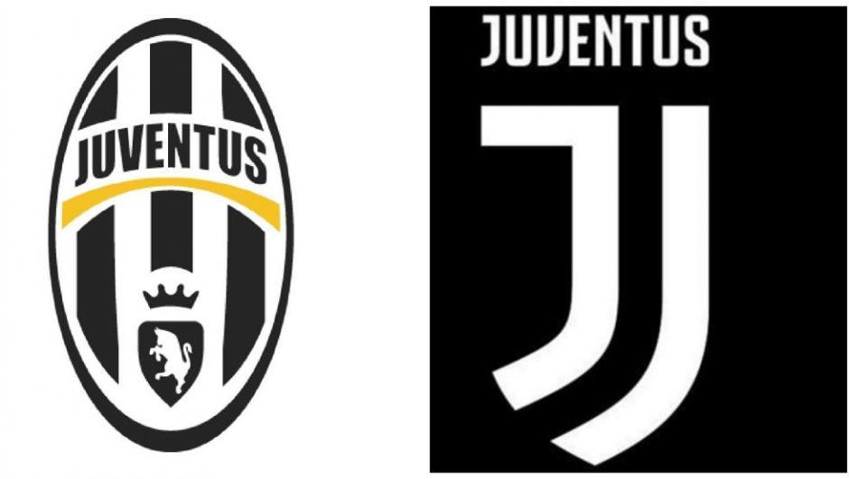 El nuevo y el anterior logo de la Juventus de Turín. (Foto: Twitter)