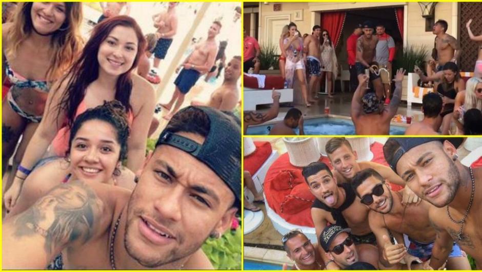 """Ney es acompañado por decenas de """"amigos"""" en sus fiestas en la piscina. (Foto: Twitter)"""
