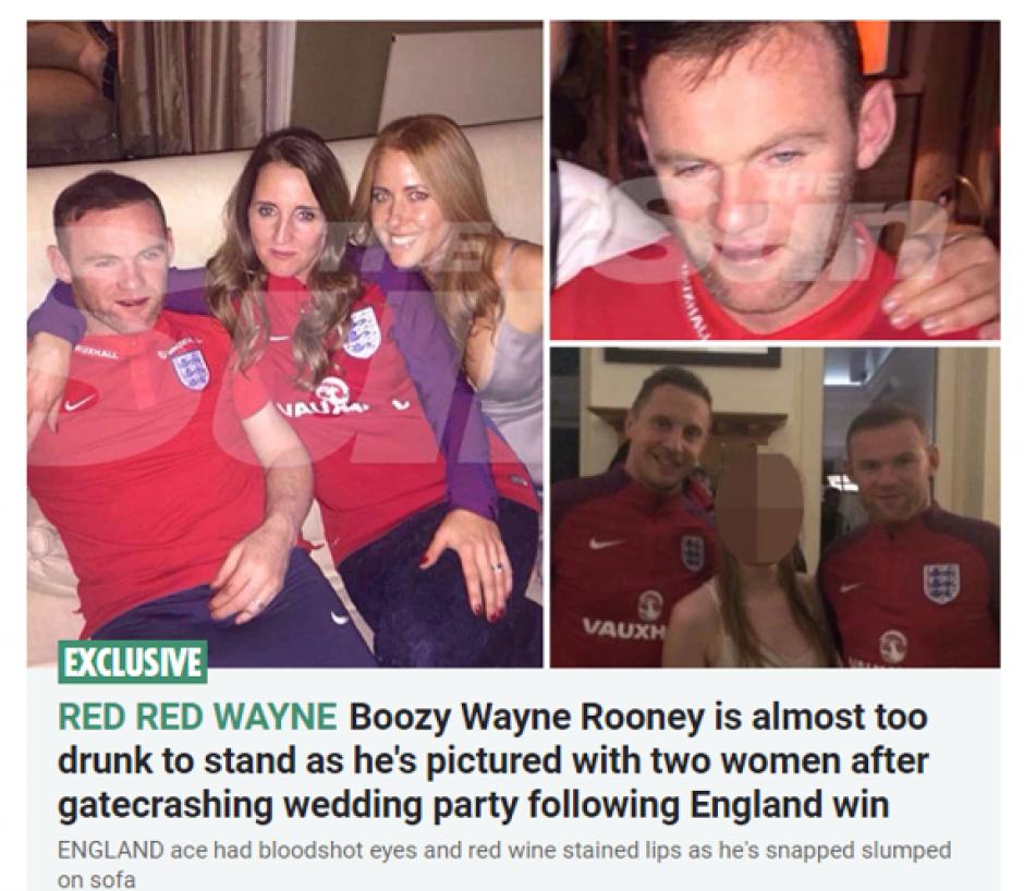 Los medios ingleses y de todo el mundo hicieron eco a la borrachera de Rooney. (Foto: Twitter)