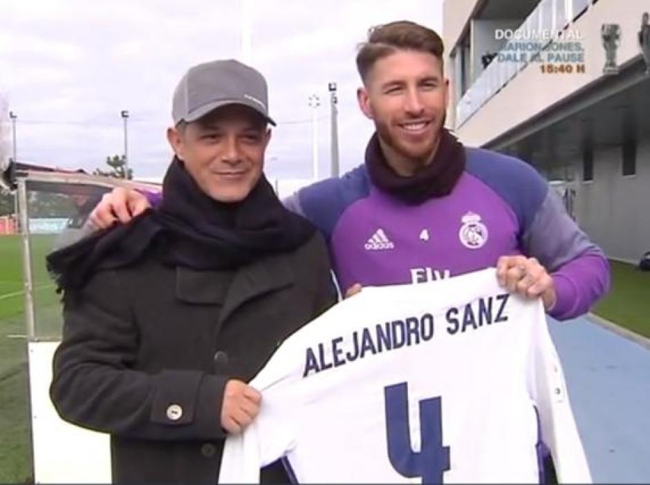 Sanz visitó a su amigo Sergio Ramos en la capital española. (Foto: Instagram Sergio Ramos)