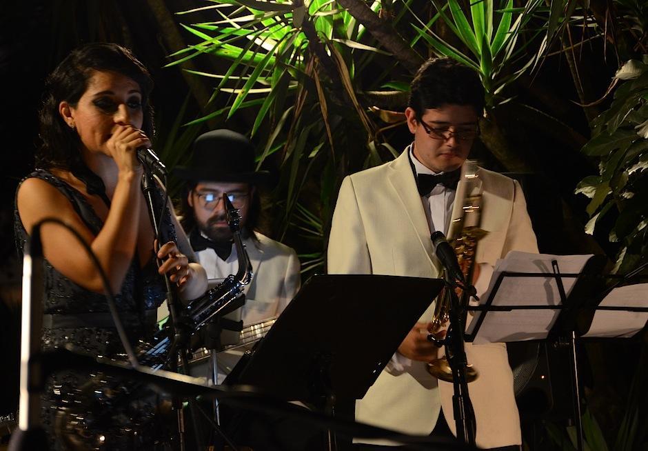Grandes músicos guatemaltecos conforman la banda Imox Jazz. (Foto: Selene Mejía/Soy502)