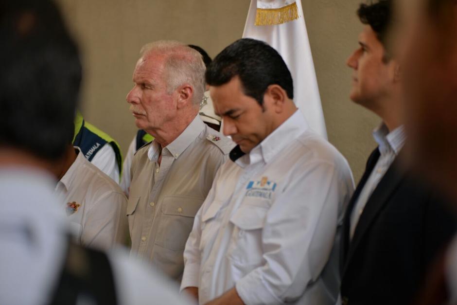El alcalde Álvaro Arzú y el presidente Jimmy Morales, estuvieron presentes. (Foto: Wilder López/Soy502)