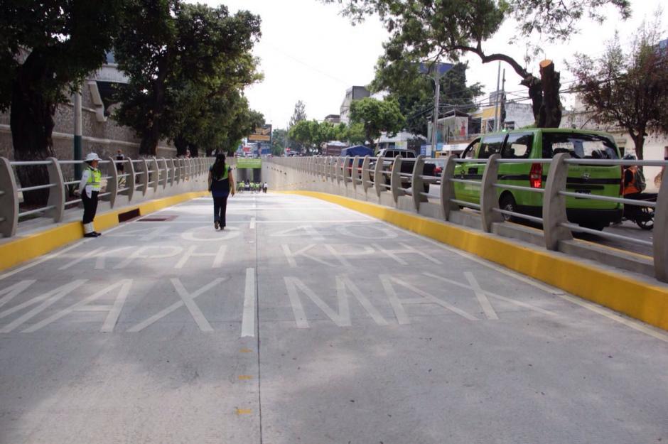 Así es el ingreso al nuevo paso a desnivel. (Foto: Wilder López/Soy502)