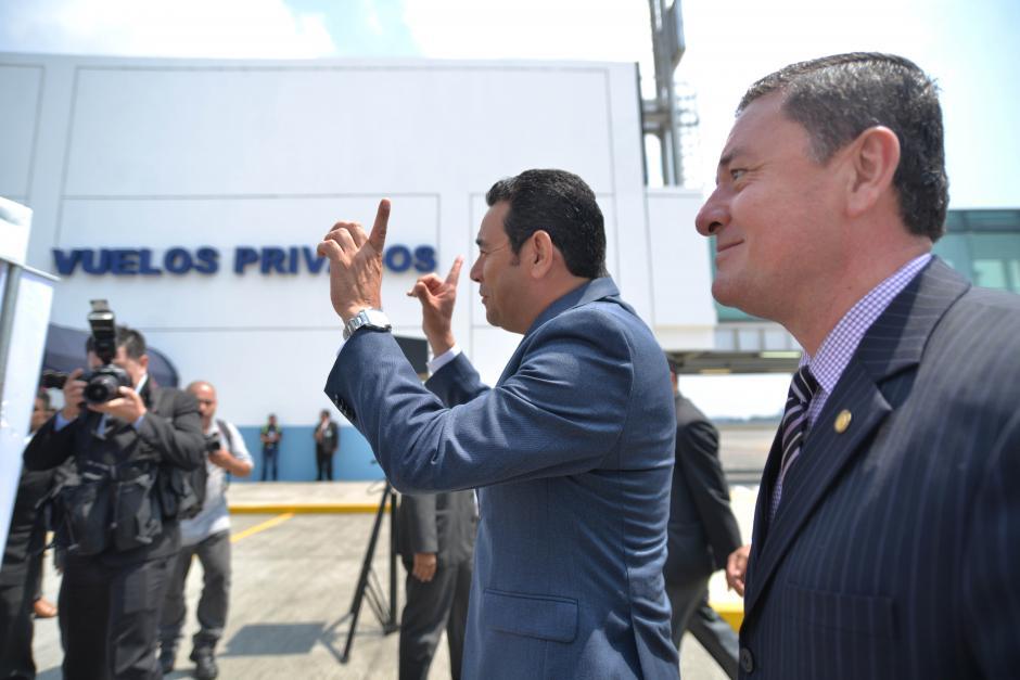 Por la mañana se inauguró la Terminal de Vuelos Privados en el Aeropuerto La Aurora. (Foto: Wilder López/Soy502)
