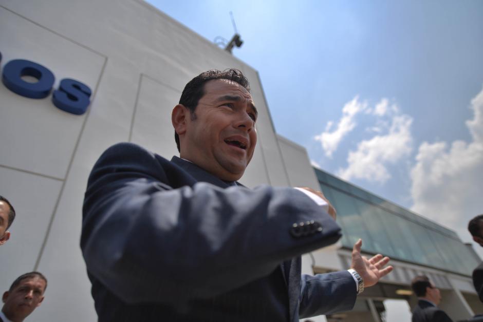 El presidente Jimmy Morales asistió al acto de inauguración. (Foto: Wilder López/Soy502)