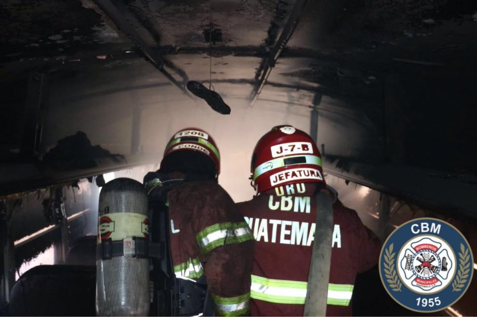 El incendio fue sofocado por Bomberos Municipales. (Foto: @bomberosmuni)