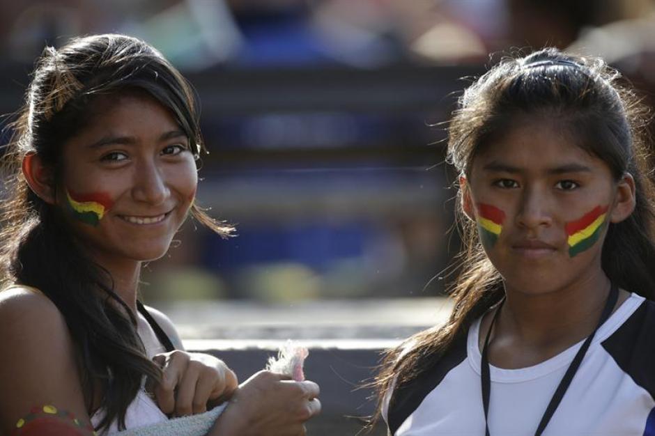Indígenas bolivianas asistentes a los Juegos Mundiales de los Pueblos Indígenas. (Foto: EFE)