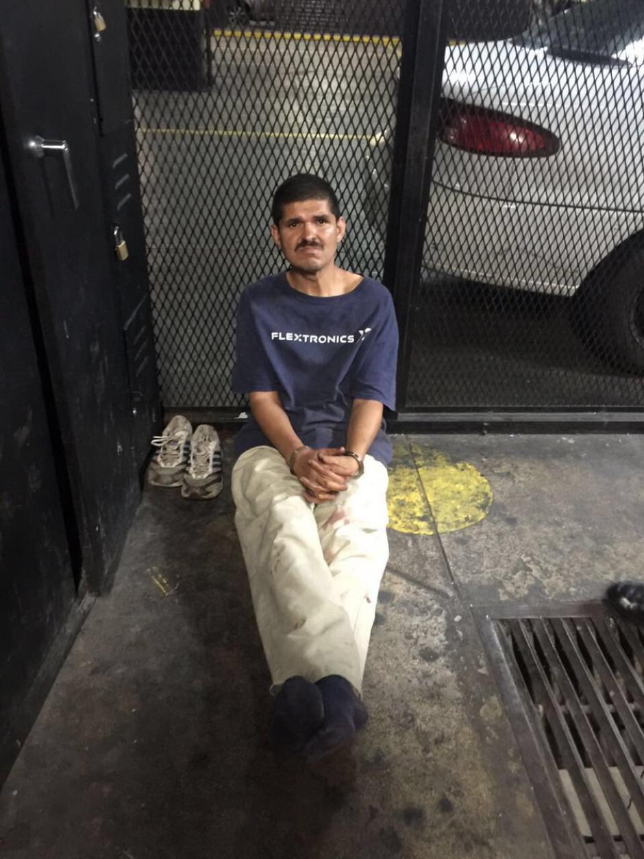 Moisés Guevara Gutiérrez de 50 años fue capturado por atacar a una indigente, se sospecha que sea el atacante. (Foto: @DanielTzoc_eu)