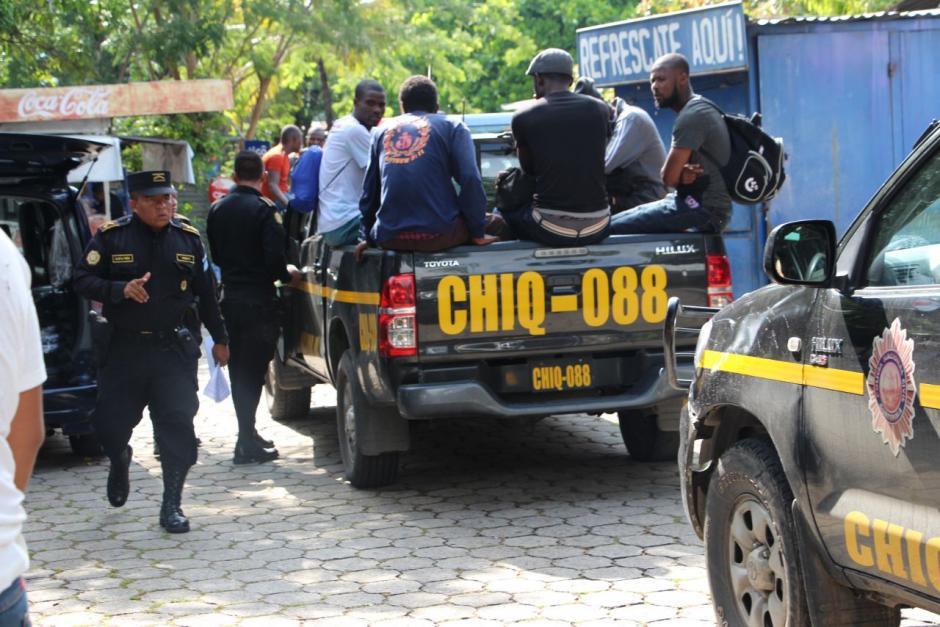 Los indocumentados son provenientes del Congo y Senegal. (Foto: PNC)