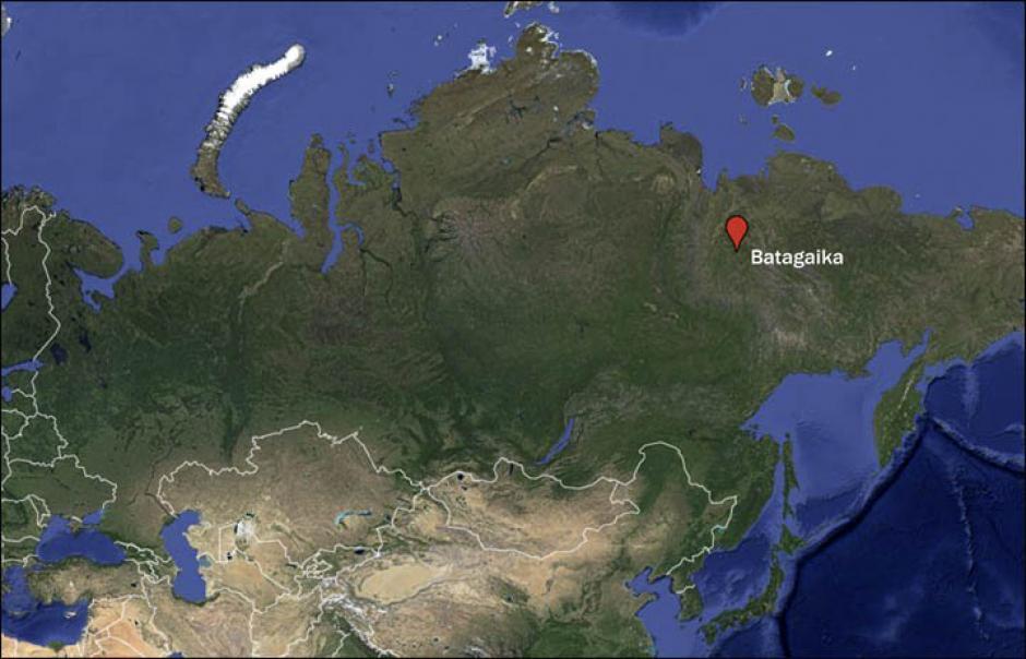 El cráter está ubicado en Batagaika y lleva el mismo nombre. (Imagen: siberiantimes.com)