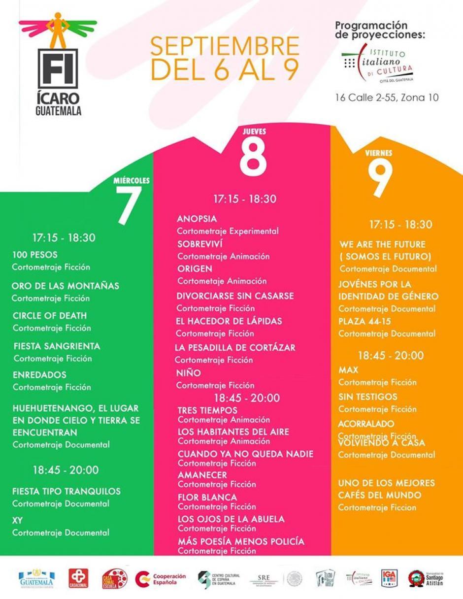 Esta es la programación del Instituto Italiano de Cultura. (Foto: Festival Ícaro)