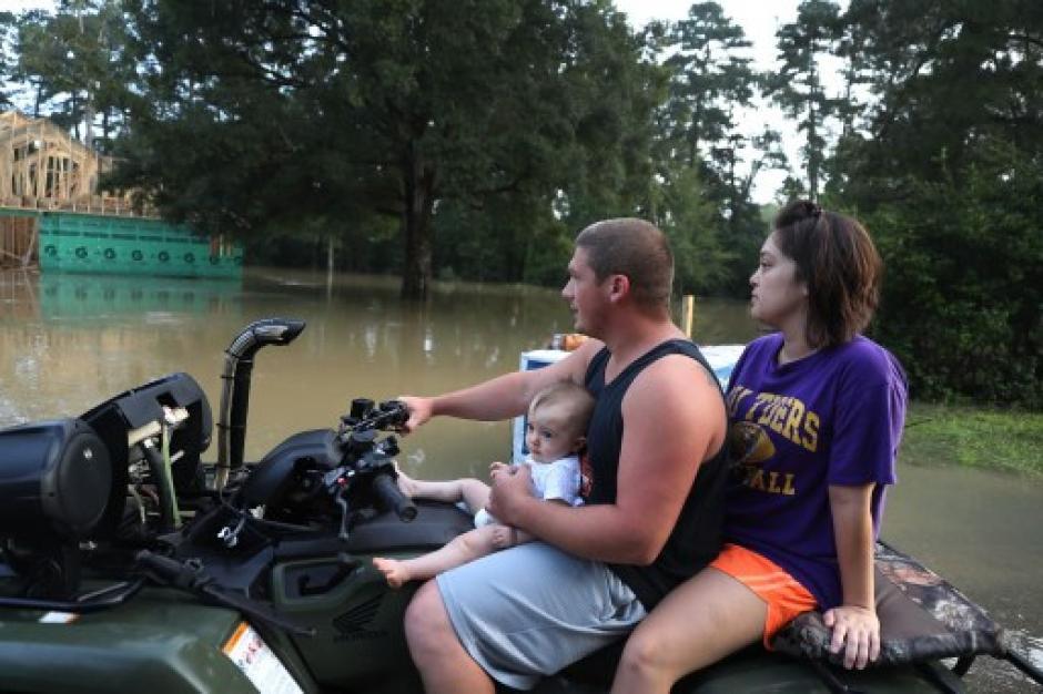 Los habitantes de Luisiana recordaron al huracán Katrina. (Foto: AFP)