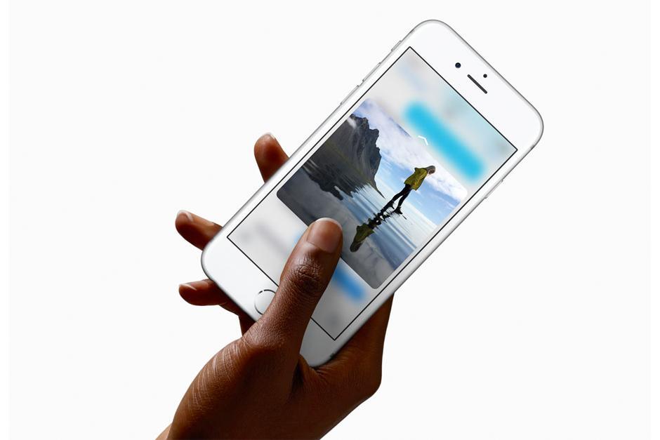 La tecnología 3D Touch permite al iPhone 6S detectar la intensidad con que presionas la pantalla. (FOTO: APPLE)