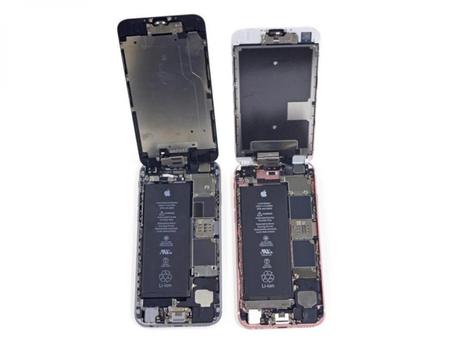 Los chicos del sitio iFixit abrieron los aparatos iPhone 6S y 6S Plus para ver de cerca sus componentes. (Foto:iFixit)