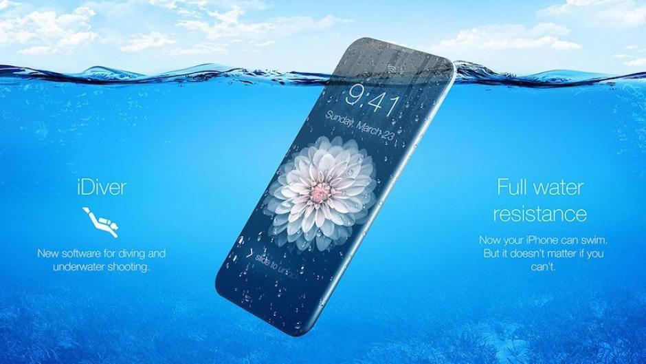 Un iPhone resistente al agua. (Foto: Sopitas)