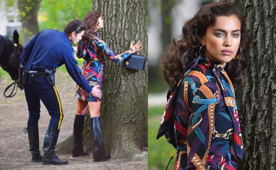 Irina personifica a una mujer malvada que huye de la policía. (Foto: diez.hn)