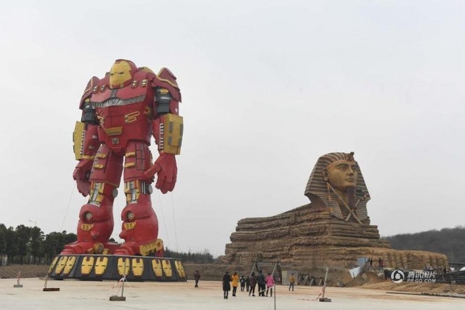 Iron Man era parte de una exposición de replicas gigantes. (Foto: Código Espagueti)