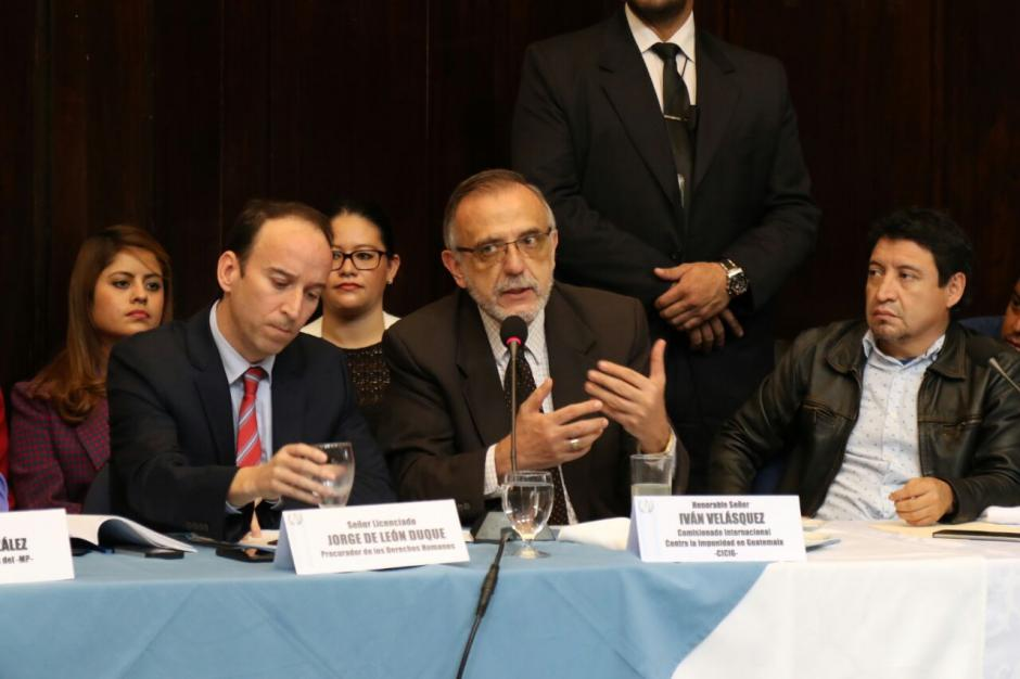 Velásquez no se refirió al caso del diputado Velásquez. (Foto: Alejandro Balán/Soy502)